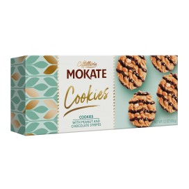MOKATE COOKIES C/ AMENDOIM E CHOCOLATE 1 Cx 16 Pacotes