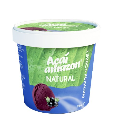 SORBET DE AÇAÍ AMAZON NATURAL 125ML- Cx/16