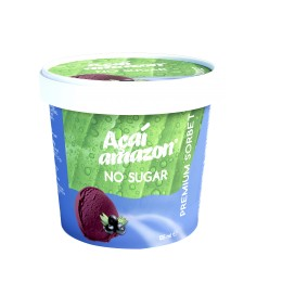 SORBET DE AÇAÍ AMAZON NO SUGAR 125ML- Cx/16